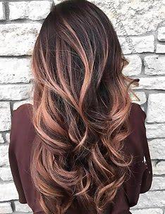 Балаяж на темные волосы #80