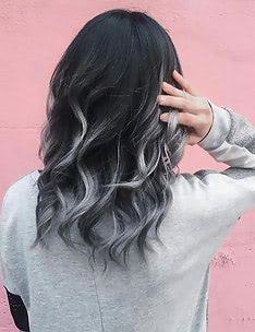 Балаяж на темные волосы #81