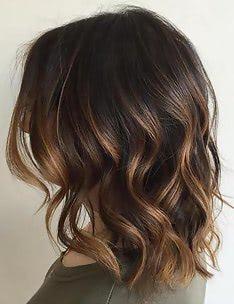 Балаяж на темные волосы #87
