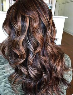 Балаяж на темные волосы #90