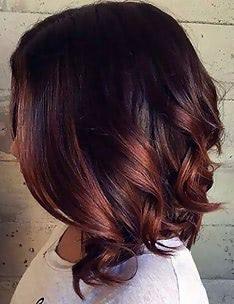 Балаяж на темные волосы #93