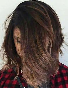 Балаяж на темные волосы #95