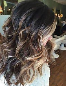 Балаяж на темные волосы #97