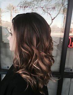 Балаяж на темные волосы #98