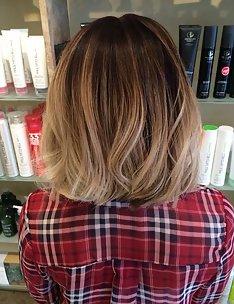 Омбре на короткие волосы #09