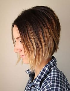 Омбре на короткие волосы #10