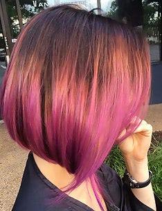 Омбре на короткие волосы #12