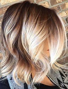 Омбре на короткие волосы #13