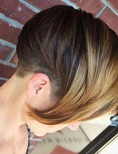 Омбре на короткие волосы #17