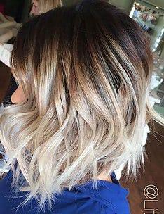 Омбре на короткие волосы #20