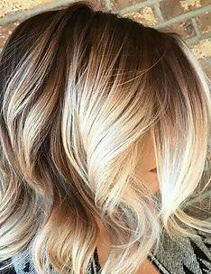 Омбре на короткие волосы #23