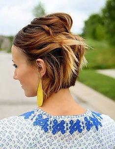 Омбре на короткие волосы #26