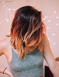 Омбре на короткие волосы #27