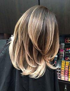 Омбре на короткие волосы #28
