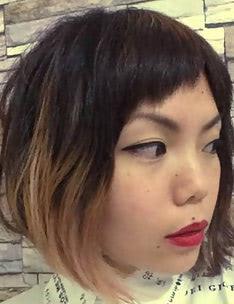 Омбре на короткие волосы #01