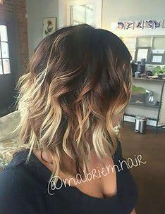 Омбре на короткие волосы #36