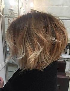 Омбре на короткие волосы #41