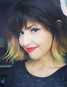 Омбре на короткие волосы #47
