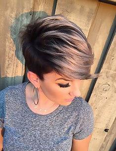 Омбре на короткие волосы #48