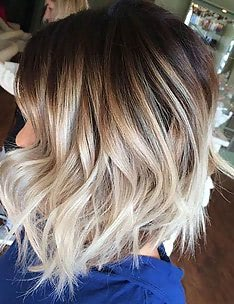 Омбре на короткие волосы #49