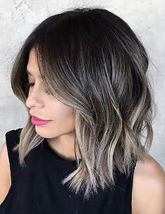 Омбре на короткие волосы #50