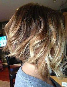 Омбре на короткие волосы #56