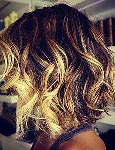 Омбре на короткие волосы #61