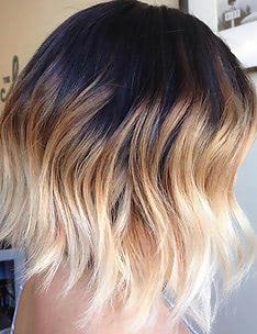 Омбре на короткие волосы #63