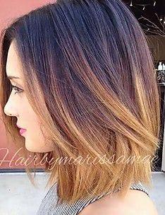 Омбре на короткие волосы #64