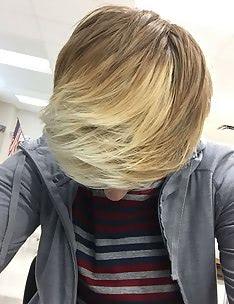 Омбре на короткие волосы #66