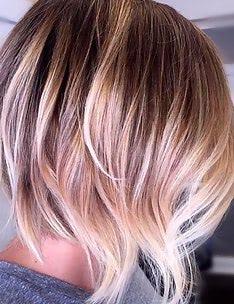 Омбре на короткие волосы #67