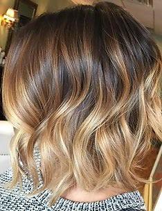 Омбре на короткие волосы #72