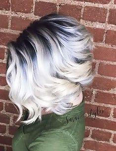 Омбре на короткие волосы #75