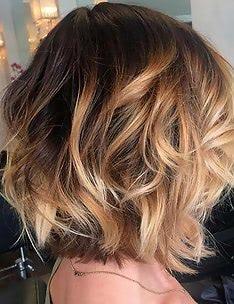 Омбре на короткие волосы #77