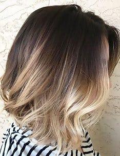Омбре на короткие волосы #81