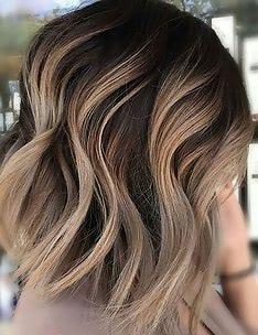 Омбре на короткие волосы #07
